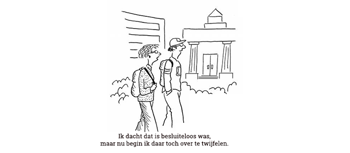 cartoon studiekeuze jongeren